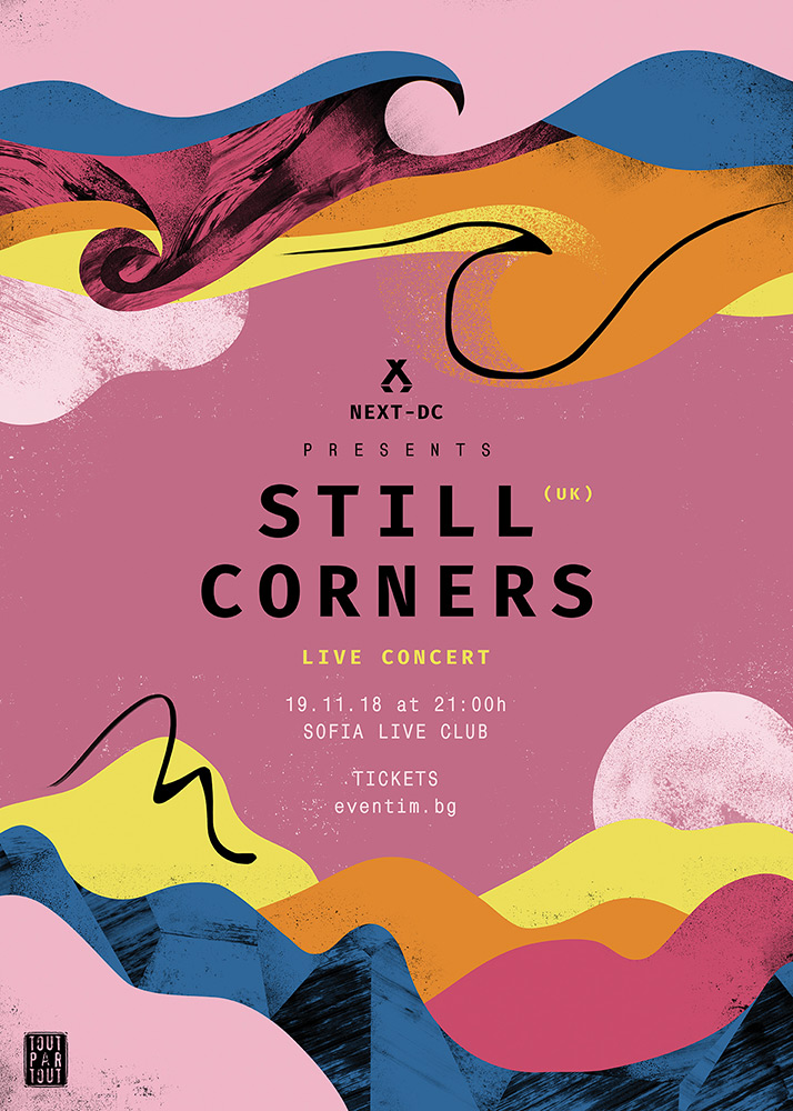 Still Corners arrive for a concert in Sofia for NEXT-DC's 8th birthday 🎉