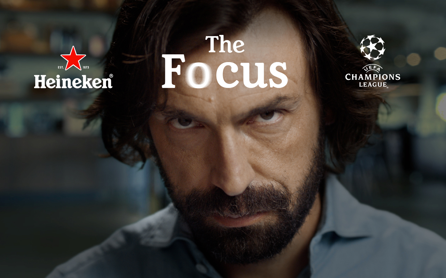 Heineken presents The Focus: a virtual stare down with Andrea Pirlo — the master of concentration