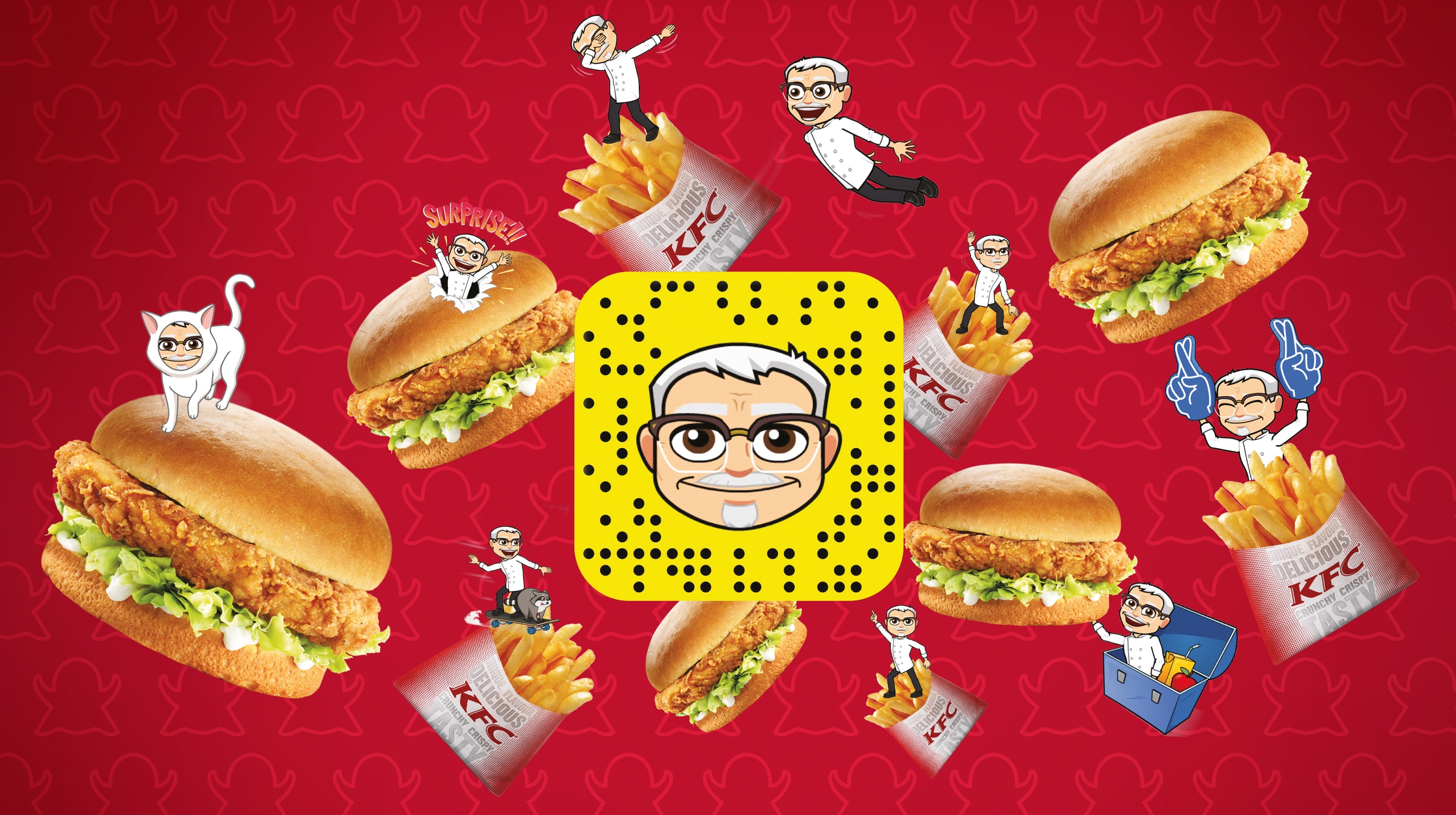 KFC: The Colonel on Snapchat
